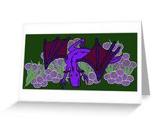 Purple Dragon at play Greeting Card