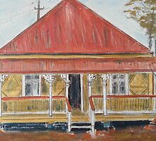 Queensland workers cottage by gillsart