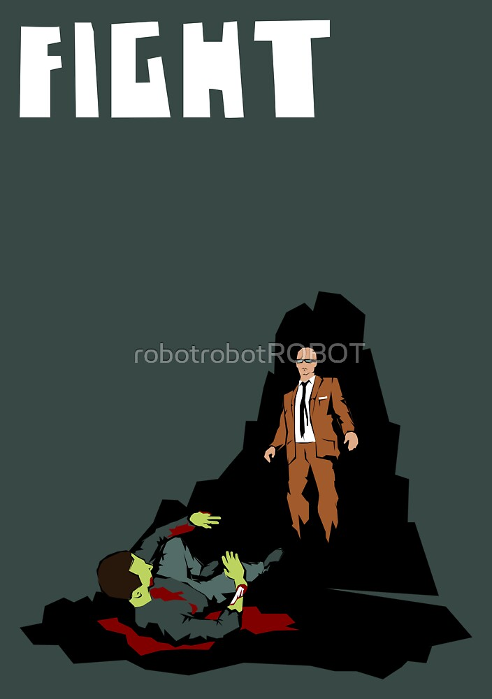 Fight. (Man v. Zombie) by robotrobotROBOT