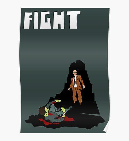 Fight. (Man v. Zombie) Poster