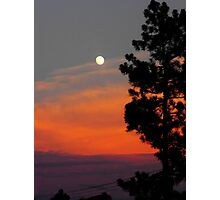Sunset Moon Photographic Print
