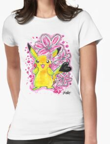 Cute Lily Pikachu - Watercolor Painting - Flowers - T shirts + More T-Shirt