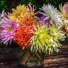 Bouquet of dahlias by Antanas