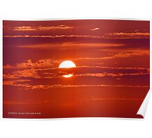 Red Sunrise | East Moriches, New York Poster