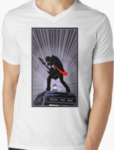 Doctor Who: Shredding Through Time Mens V-Neck T-Shirt