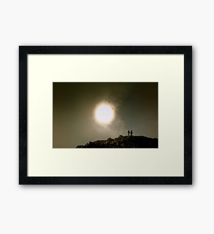 Staring at the Sun Framed Print