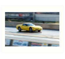 Yellow Fury!!!! Art Print