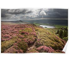 Embsay Crag & Reservoir From Embsay Moor Poster