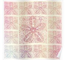 Flower Mandala Henna Tattoo Poster