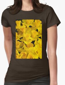 A Bunch of Daffodils Womens Fitted T-Shirt