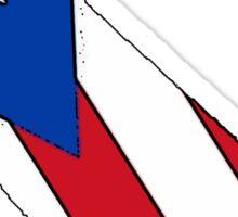 California outline Puerto Rico flag Sticker