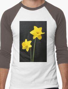 Daffodils in full bloom Men's Baseball ¾ T-Shirt