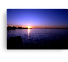 Sunset at Baypoint, New Jersey Canvas Print