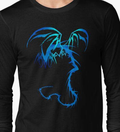 Electric Blue Dragon tattoo style Long Sleeve T-Shirt