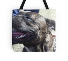 staffordshire bull terrier head Tote Bag