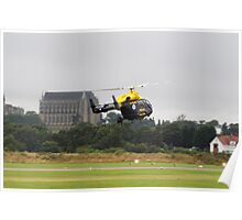 Police Helicopter in Action Poster