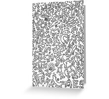 Keith Haring Inspired Doodle Greeting Card