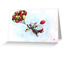 Failbot takes to the skies Greeting Card