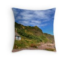 Catterline Beach Throw Pillow