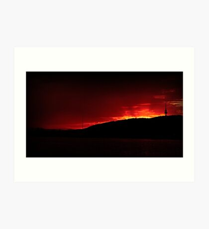 Black Mountain Sunset Art Print