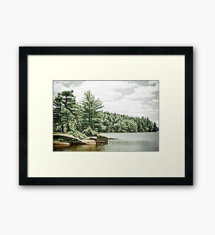 Isolated Lake Framed Print