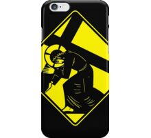 Jesus on a Crosswalk  iPhone Case/Skin