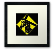 Jesus on a Crosswalk  Framed Print
