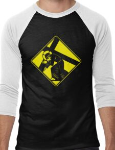 Jesus on a Crosswalk  Men's Baseball ¾ T-Shirt