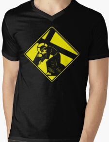 Jesus on a Crosswalk  Mens V-Neck T-Shirt