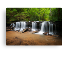 Perpetuelles - Small Waterfall Landscape Canvas Print
