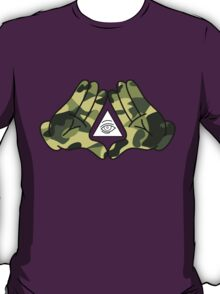 Mickey Mouse Camo Illuminati Hands T-Shirt