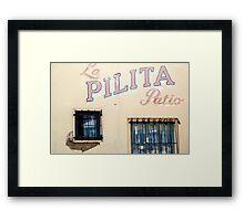 La Pilita Framed Print