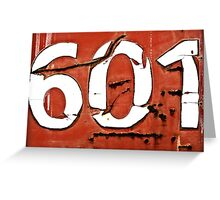 601 Greeting Card