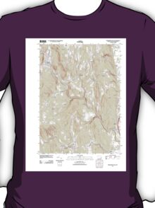 Massachusetts  USGS Historical Topo Map MA Shelburne Falls 20120606 TM T-Shirt