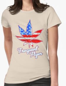 Frequent Flyer! Womens Fitted T-Shirt