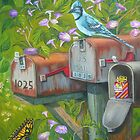 Rural Mailboxes, Bird and Butterfly by Vivian Eagleson