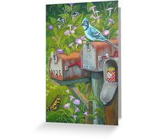 Rural Mailboxes, Bird and Butterfly Greeting Card