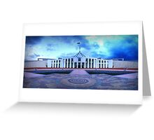 Parliament Clouds Greeting Card