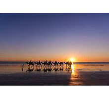Cable Beach camel train, Western Australia Photographic Print