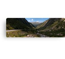 Cyclists on the Nufenen Pass Canvas Print