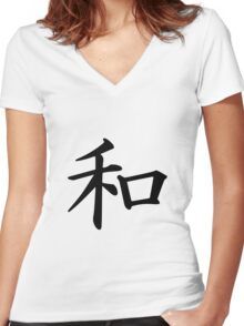 Peace - Wa Women's Fitted V-Neck T-Shirt
