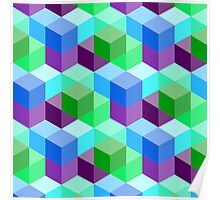 3D Cube Pattern Poster