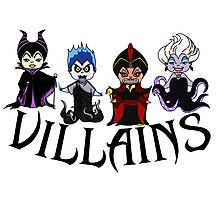 Disney Villains  Photographic Print