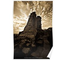 Mow Cop Castle in Sepia Poster