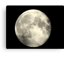 Earth,s full moon  Canvas Print