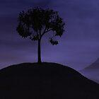 Night Tree (purple sky) by olliedeansmith