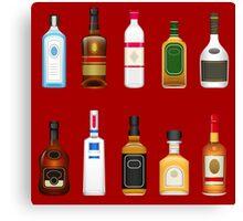 Alcohol Pattern Canvas Print