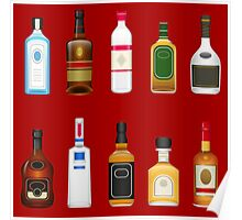 Alcohol Pattern Poster