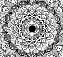 Black Ink Zen Mandala Sticker