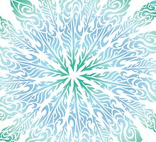 Feather Flower: Frost Burst by TheMindBlossom